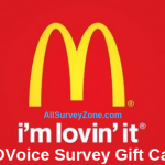 McDVoice Survey Gift Cards