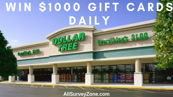dollartree survey gift cards