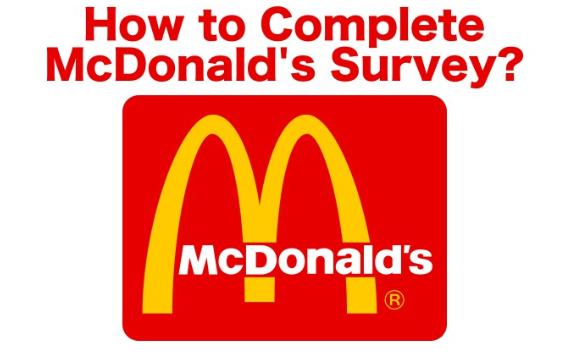 complete McDonald's survey