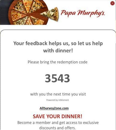 papasurvey free coupon code