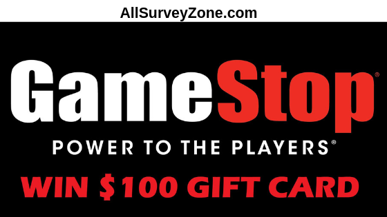 tellgamestop survey and win $100