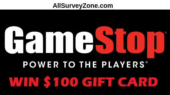 tellgamestop survey and win $100
