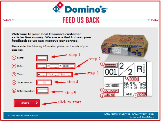 Steps to Complete the Domino's Feedback Survey and Win Free Pizza for a Year