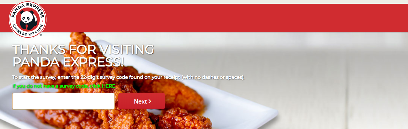 Steps to Complete the Pandaexpress.com/feedback Survey and Win Free Entree Item with Purchase of any 2 Entree Plate