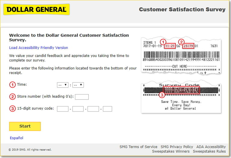 Steps to Complete the DGCustomerFirst Survey and Win $100 Gift Card