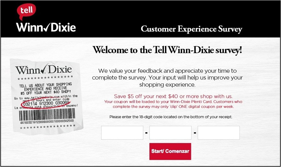 Tellwinndixie Survey and win a $5 off coupon