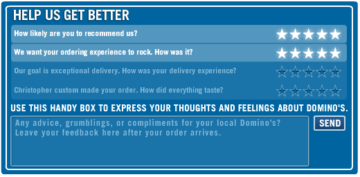 Domino's Feedback Survey - Win Free Pizza For a Year 2020