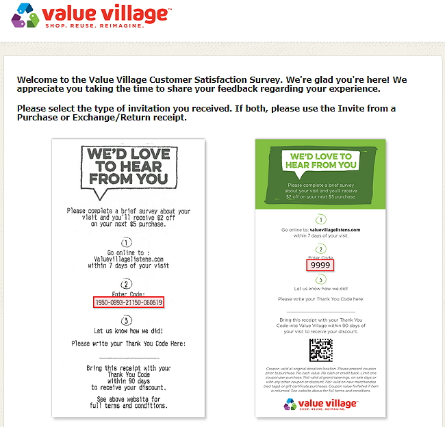 Steps to Complete the ValueVillageListens Survey and Win $2 off Coupon