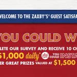 Myzaxbysvisit survey online