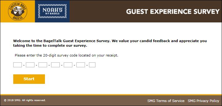 Steps to Complete the BagelExperience Customer Feedback Survey