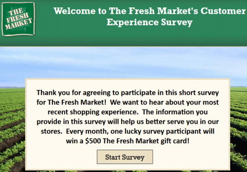 Steps to Complete the Fresh Market Customer Experience Survey and Win Prize of $500 Gift Card