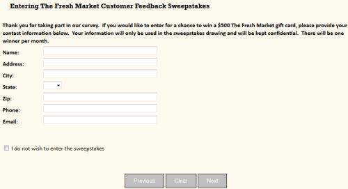 fresh market customer survey 1