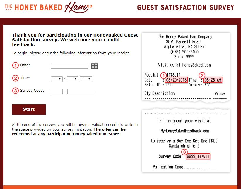 Steps to Complete the MyHoneyBaked Customer Experience Survey and Win Free Sandwich