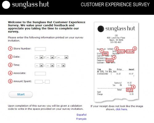 Steps to Complete the Sunglass Hut Survey and Win $25 Off $150 Coupon