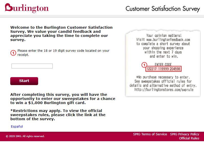 Steps to Complete the Burlington Customer Feedback Survey
