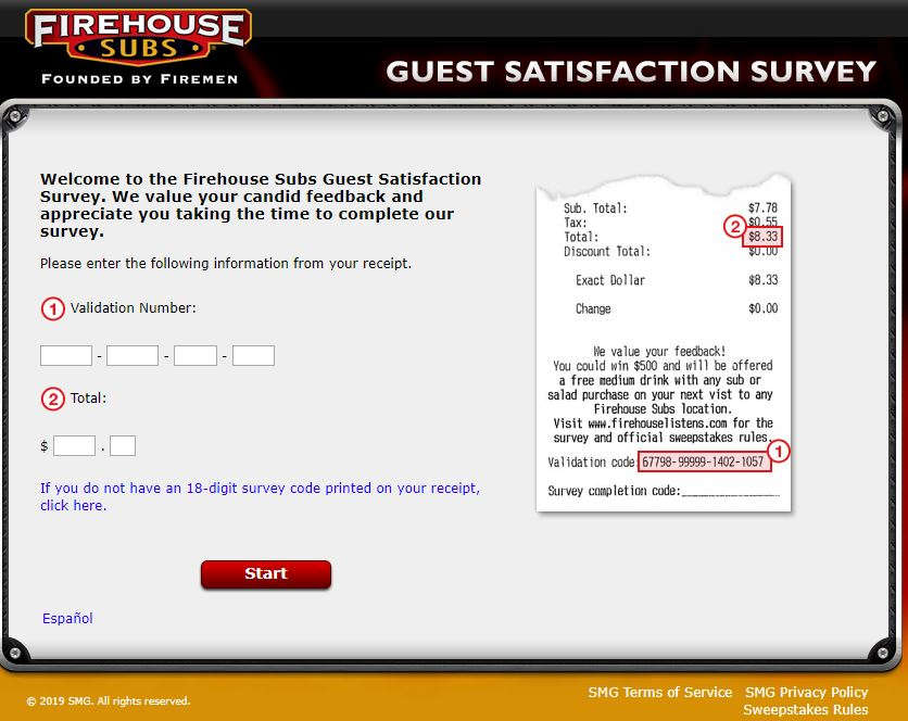 Steps to Complete the Firehouse Subs Guest Satisfaction Survey