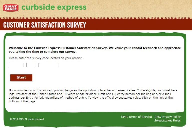 Steps for Completing the Curbside Express Customer Experience Survey