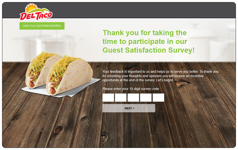 Steps to Complete the DelTaco Guest Satisfaction Survey