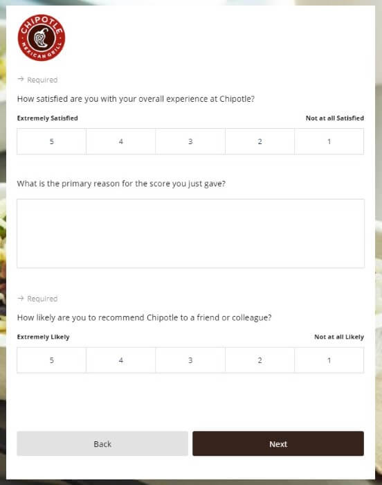 Steps for Completing the Chipotle Customer Experience Survey