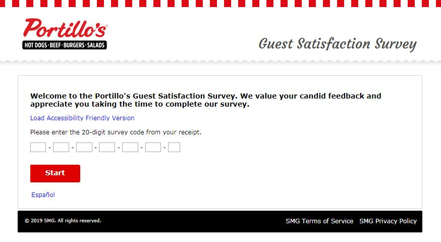 Steps for Completing the Portillo's Customer Experience Survey