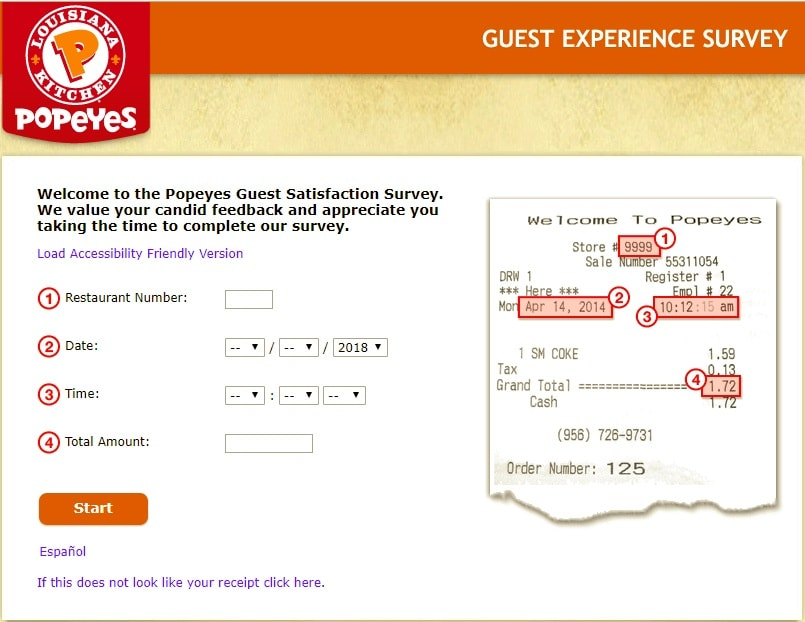 Steps for Completing the Popeyes Customer Experience Survey