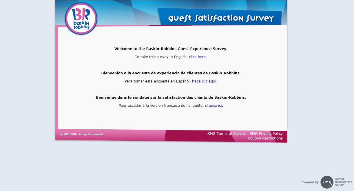 About Baskin Robbins Customer Satisfaction Survey