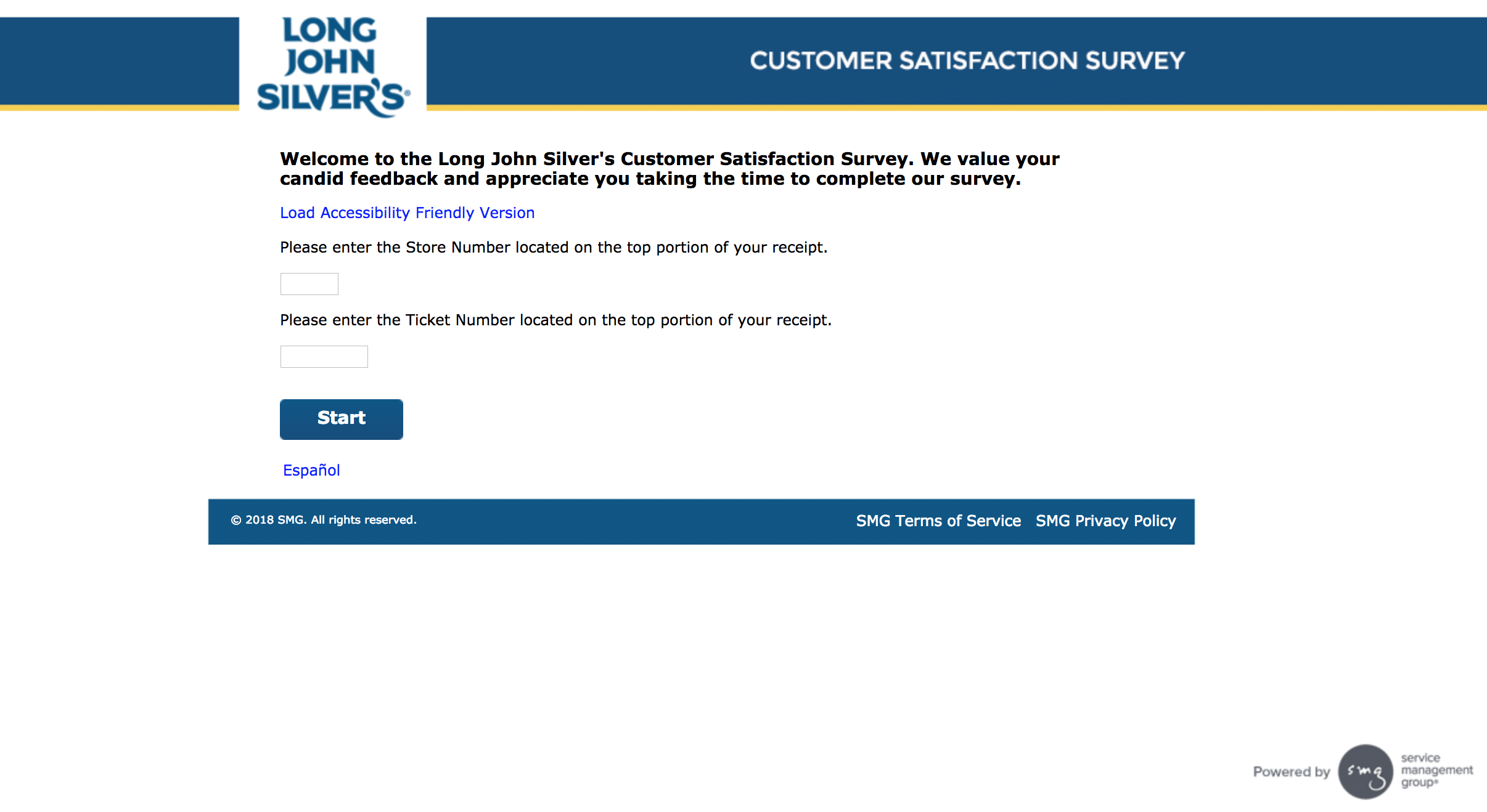 Steps for Completing the Long John Silver's Customer Experience Survey