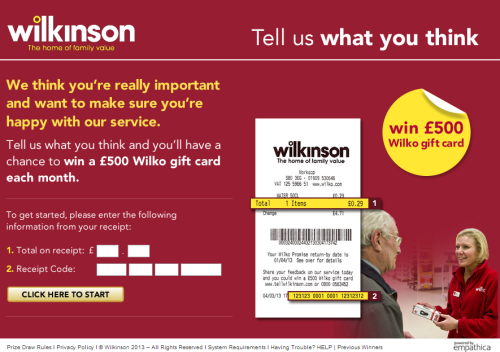 Steps for Completing the Wilko Customer Feedback Survey