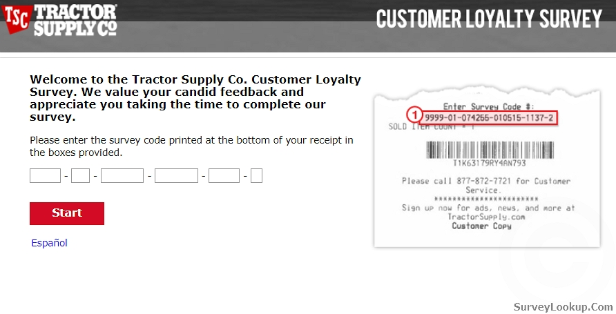 Steps for Completing the Tractor Supply Customer Feedback Survey