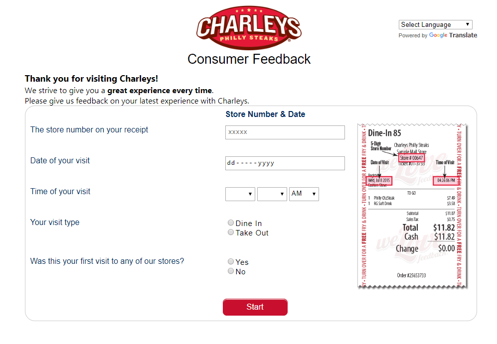 official-Charleys-Survey-website